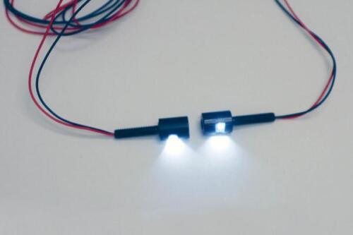 Custom Dynamics LED License Plate Tag Bolts with White LEDs Black