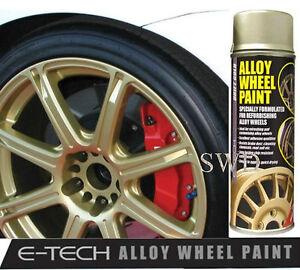 Drift Gold E Tech Car Alloy Wheel Spray Paint 400ml Can Chip