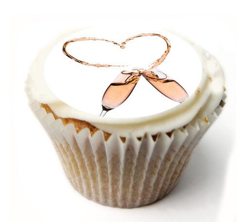 Givrage Feuille 931 Cupcake Topper mariage personnalisé de riz