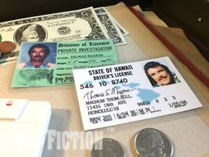 Magnum-P-I-Magnum-PI-Investigator-amp-Hawaii-Driver-Licence-Prop-ID-Cards