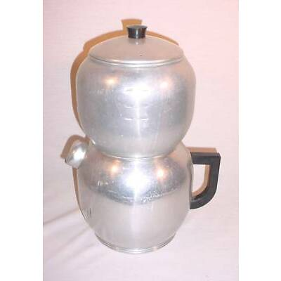 VINTAGE WEST BEND KWIK DRIP 15 CUP ALUMINUM STOVE TOP COFFEE MAKER HANDY