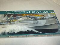 1/72 S-100 Flak38 German Fast Attack Craft Ship Model Kit