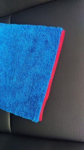 16x24 Elite Blue Microfiber Towel for Home Auto Premium Cleaning Cloth Red Edge