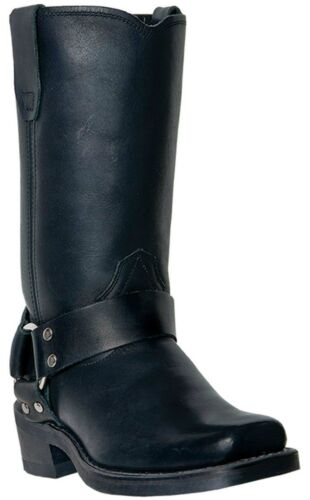 """Dingo Women/'s Molly 10/"""" Pull On Leather Motorcycle Boots Black DI07370"""