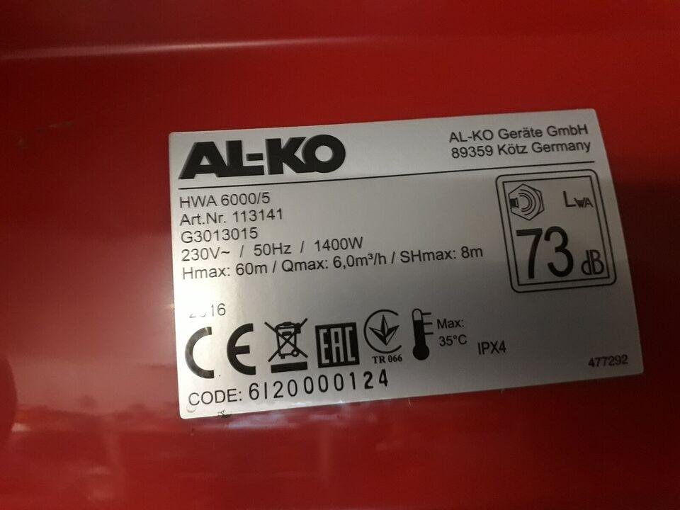 Alko 6000/5, Alko