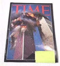 TIME MAGAZINE SEPT 11 9/11 TERRORIST ATTACK WORLD TRADE CENTER VINTAGE 2001