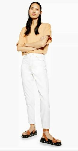 Ex TOPSHOP Blanc maman Tapered Jeans UK 10 W28 L32 TS23-6
