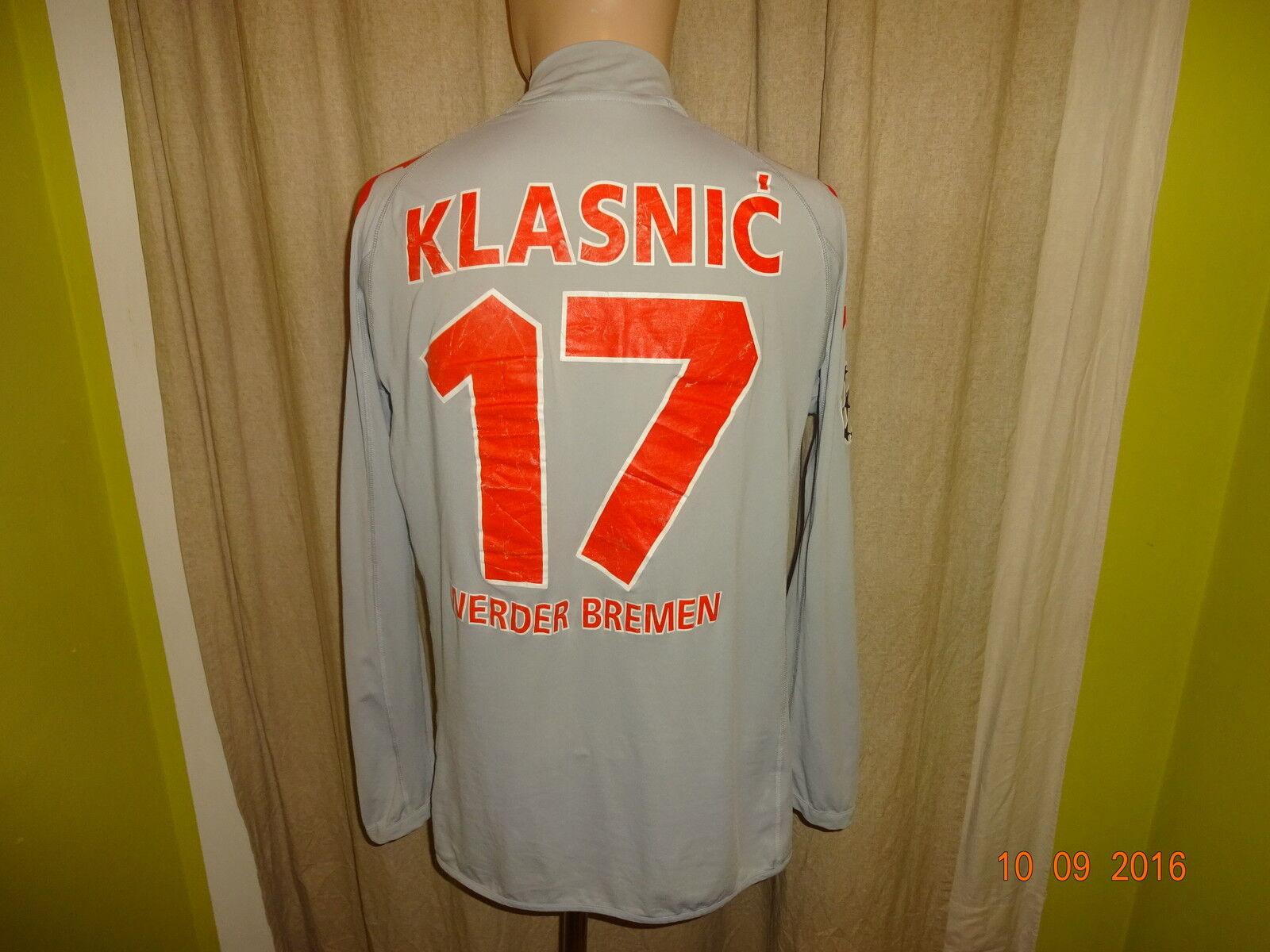 Werder Bremen Kappa Langarm CL.Matchworn Trikot 2005 06 + Nr.17 Klasnic Gr.L- XL  | Erste Gruppe von Kunden