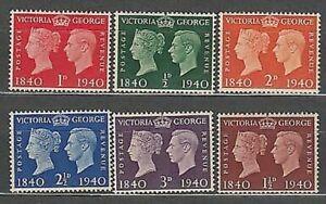 Grande-Bretagne-Courrier-1940-Yvert-227-32-MNH-Victoria-Et-George-VI