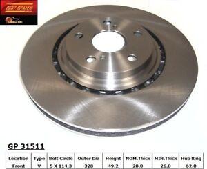 Disc-Brake-Rotor-fits-2008-2017-Toyota-Highlander-Sienna-BEST-BRAKES-USA