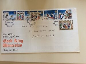 Post-Office-First-Day-Cover-Good-King-Wenceslas-Christmas-1973