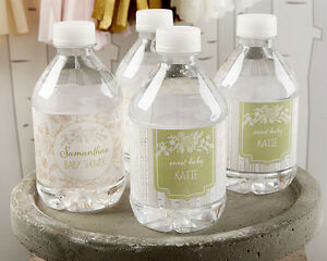Baby Shower Favors Labels ~ Personalized rustic baby theme water bottle labels baby shower