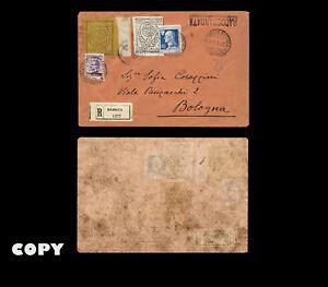 YEMEN-1926-used-in-1928-from-Col-A-Corazzini-in-Yemen-sent-to-italia-COPY