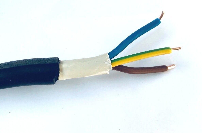 m - Erdkabel NYY-J 3 x 2,5 mm² 50m Ring Starkstromkabel VDE Erdkabel