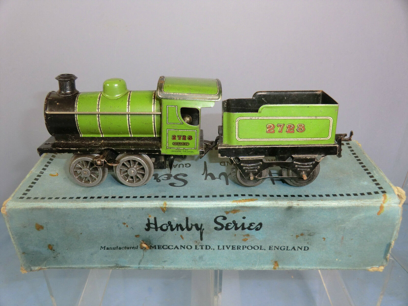 VINTAGE HORNBY C W  MODEL No M I  .M2930 0-4-0 LOCO AND TENDER  NMIB    RARE