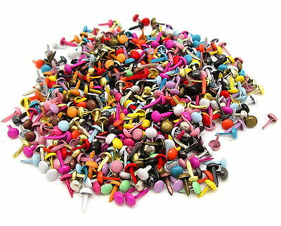 LOT 50 ATTACHE PARISIENNE MINI BRADS ROND MULTICOLORE SCRAPBOOKING SCRAP CARTE