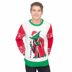 Off White Christmas Hoodie.Details About Adult Film Star Wars Jedi Yoda Dressed As Santa Off White Ugly Christmas Sweater