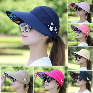 5ec6febd983 Women Lady Foldable Sun Straw Hat Wide Large Brim Floppy Derby ...