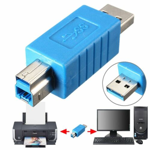 Durable USB 3.0 Type A Male to Type B Male Plug Adapter Converter For PC Printer