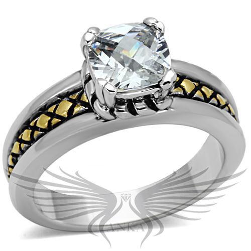 Brilliant 1.3ct Cushion Cubic Zircon CZ AAA Engagement Ring 5 6 7 8 9 10 3W328