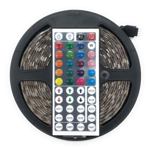 RGB LED SMD Strip 5050 Adhesive 5 MT with Power Supply and Remote Control 44 keys
