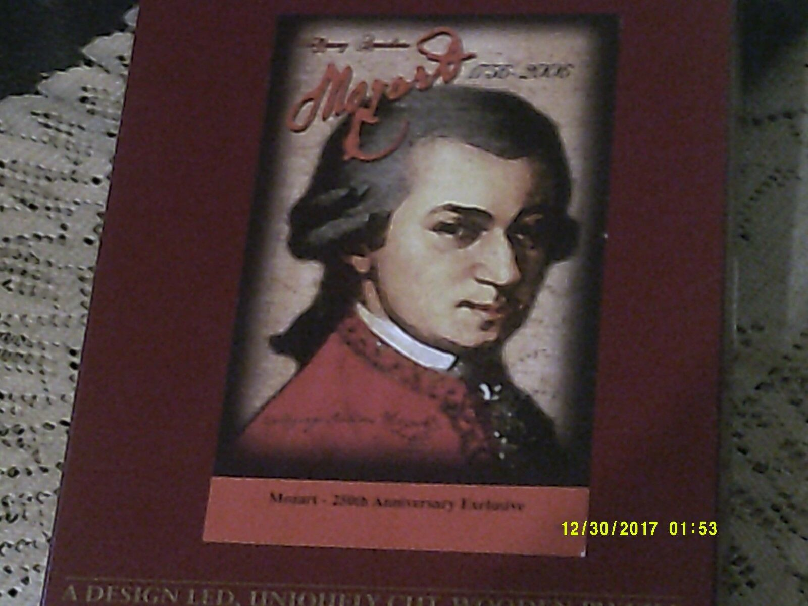 RARE EARLY WENTWORTH 250 'MOZART 250TH ANNIVERSARY EXCLUSIVE' PAINTING