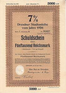 AV-VD-Sachsen-Der-Rat-zu-Dresden-1926-7-Schuldschein-5000-Reichsmark-AK14