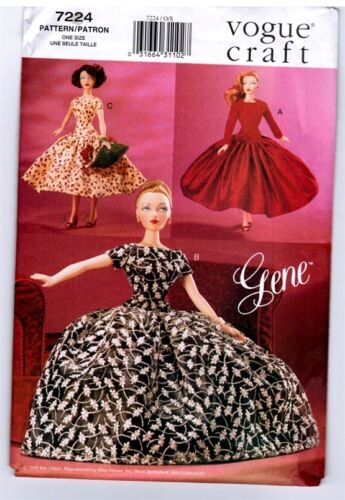 Vogue Craft 7224 Doll GENE Ashton Drake Day & Night Dress Pattern New Uncut