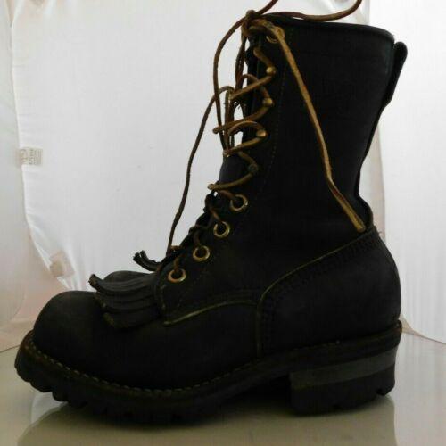 Mens Viberg Logger Boots Size: 5 Color: Black