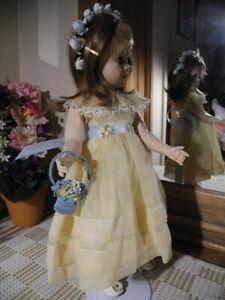 VTG-Nancy-Ann-Style-Doll-Flower-Girl-Yellow-Organdy-Gown-Basket-Headband-Wig-17-034
