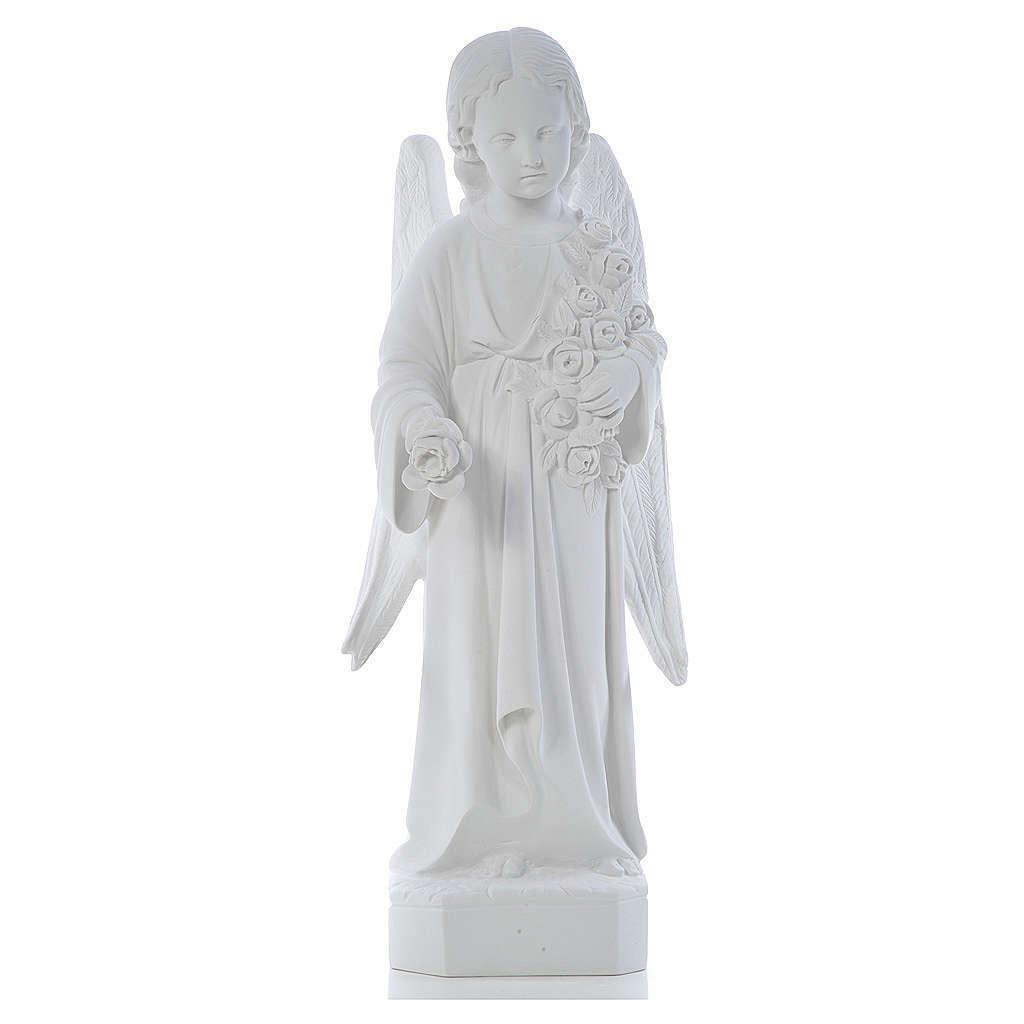 Ángel ala larga, Weisser mármol, 60 cm