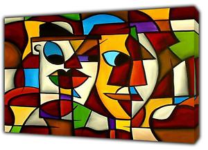 Pablo Picasso Cubiste Portrait Peinture Re Imprime Sur Encadree Toile Decoration Murale Ebay