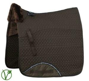 Rhinegold Luxe Horse Dressage Saddlecloth in Brown/Brown
