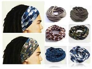 Image is loading Mens-Guys-Headband-Dreadband-Dreadlock-Headband-Men-Hair- 5f988d732fa