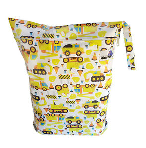 Waterproof Colorful Sea Creatures Large Zip Dry /& Wet Bag Baby Cloth Nappies
