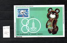 Bolivien - 1980 Block 92**  M.-50,00€- Olympische Spiele-15%