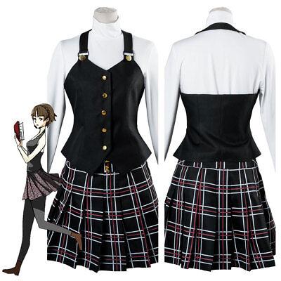 Persona 5 Makoto Niijima Shujin School Uniform Outfit Cosplay:FR3