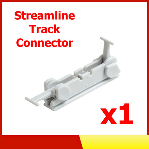 1 x Streamline PVC Plastic Curtain Track Joiner Connector