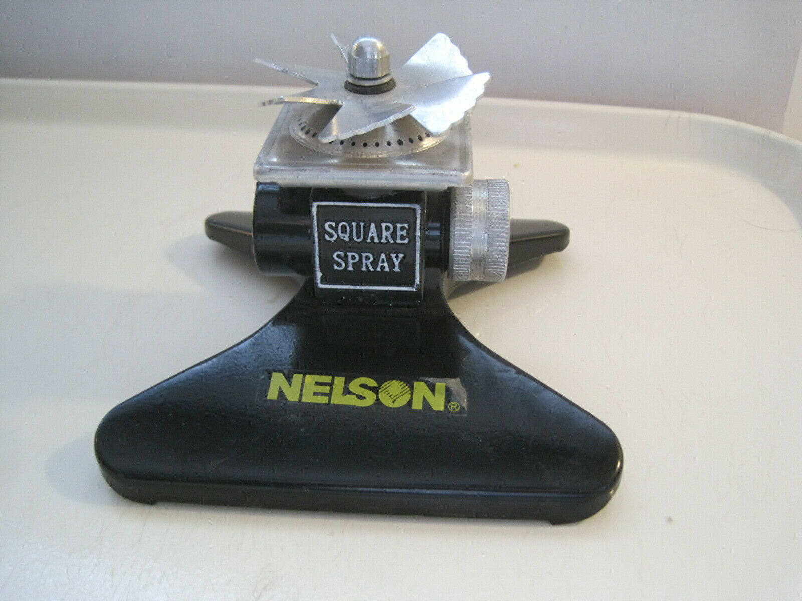 Nelson Square Spray Hose Sprinkler Lawn Garden It Gets the Corners Metal Black