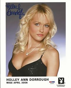 Holley-Ann-Dorrough-Signed-Playboy-8x10-Photo-PSA-DNA-COA-April-2006-Headshot