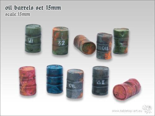 10 Ölfässer Set 15mm *Tabletop Art*