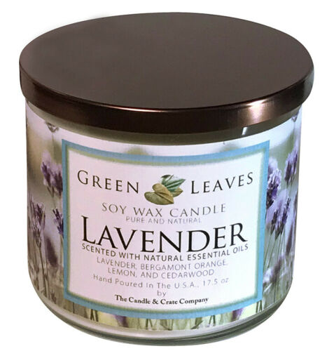 Candle Gift For Her Handmade Hand Poured Lavender Natural 100/% Soy Candle