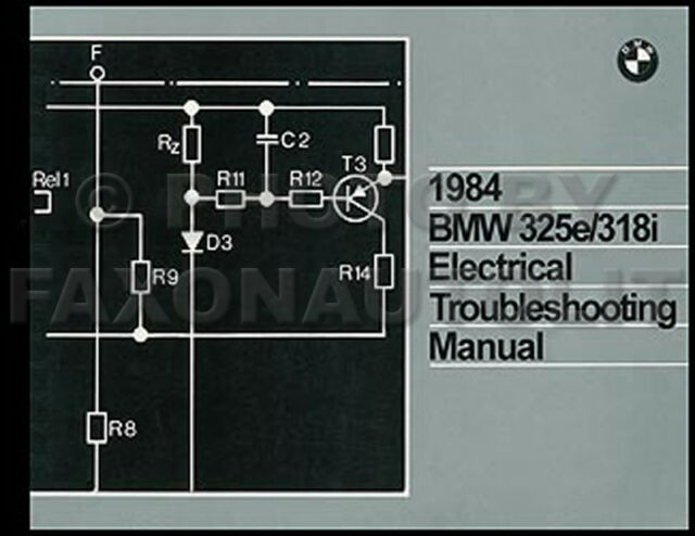 1984 Bmw 325e 318i Electrical Troubleshooting Manual Wiring Diagrams 325 E 318 I