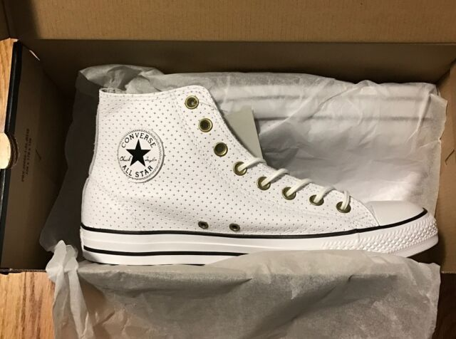 2ea06fbf6ff9 Converse Chuck Taylor All Star Hi Car   Motorcycle Leather Shoes US Men 10  New