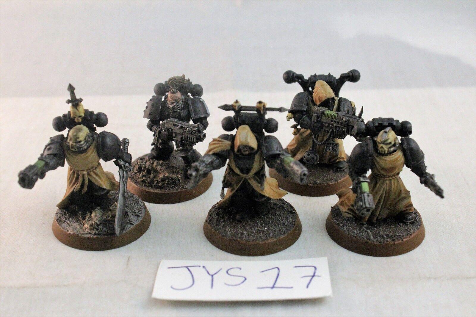 Warhammer Space Marine Dark Angels Veterans Well Painted