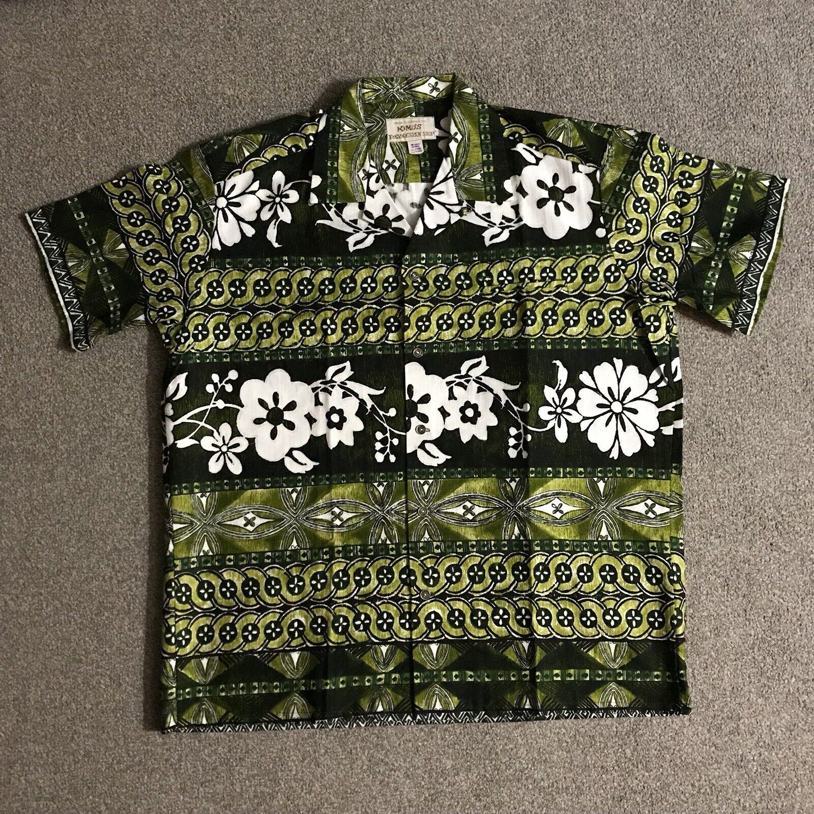 Vintage  Aloha Camisa L Kimo's Polinesia corteza  barato