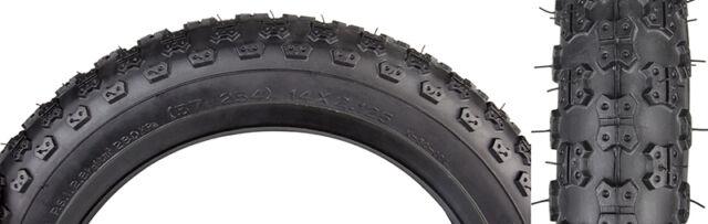 Black White Stripe Knobbly Bike  Tyre /& Tube 14 x 1.95 50-254