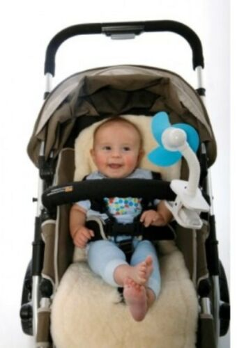 White//Blue Dreambaby Stroller Fan