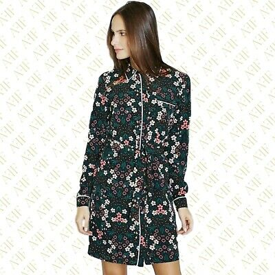 NEW EX DOROTHY PERKINS BLACK RED FLORAL COLLARED TOP BLOUSE SIZE 8-18