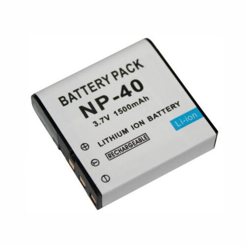 1500mAh Batería De La Cámara Para Casio NP-40 NP-40DCA NP-40DBA DLI-202 Benq E610 E520